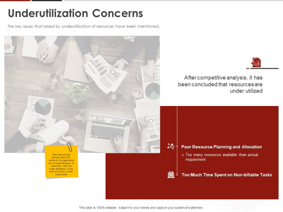 Human Resource Management Underutilization Concerns Ppt Slides Topics PDF