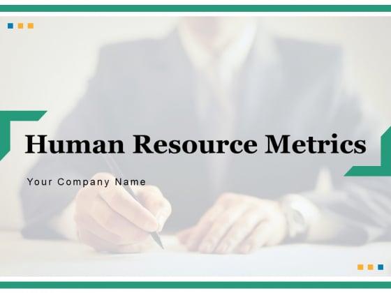 Human Resource Metrics Business Gear Ppt PowerPoint Presentation Complete Deck