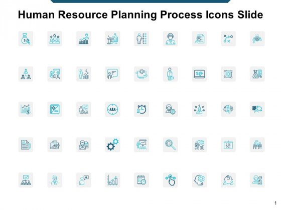 Human Resource Planning Process Icons Slide Ppt Powerpoint Presentation Inspiration Clipart