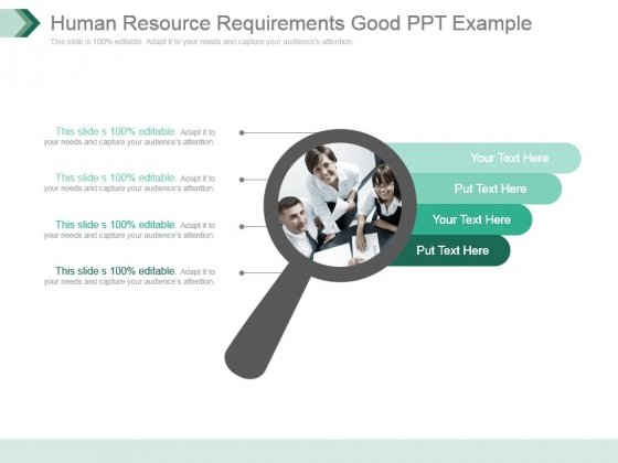 Human Resource Requirements Good Ppt Example