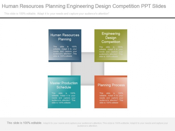 Human Resources Planning Engineering Design Competition Ppt Slides
