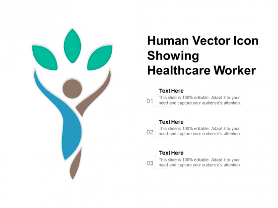 Human Vector Icon Showing Healthcare Worker Ppt PowerPoint Presentation Infographic Template Summary PDF