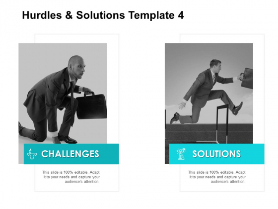 Hurdles And Solutions Template 4 Ppt PowerPoint Presentation Show Slides