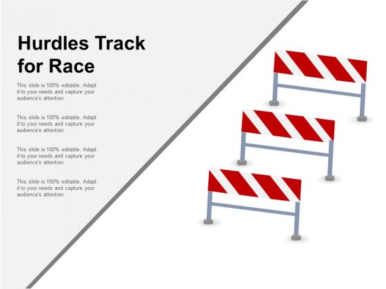 Hurdles Track For Race Ppt PowerPoint Presentation Show