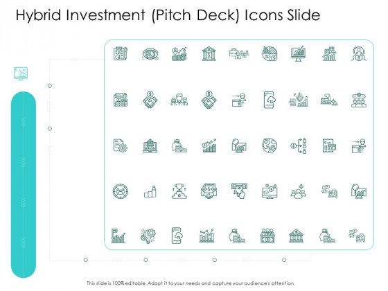 Hybrid Investment Pitch Deck Icons Slide Ppt Infographics Show PDF