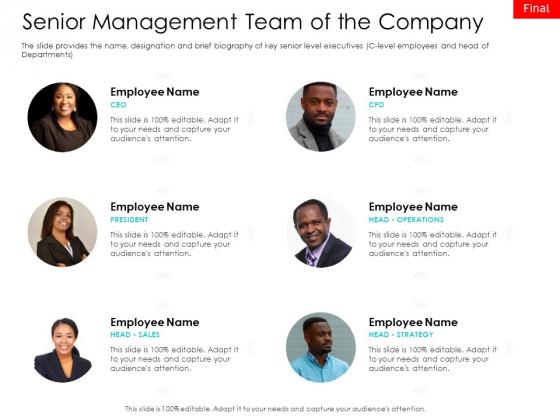Hybrid Investment Pitch Deck Senior Management Team Of The Company Microsoft PDF