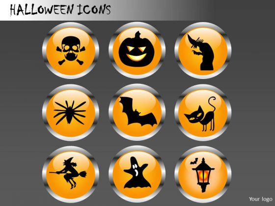 Halloween Icons PowerPoint Image Clipart Slides