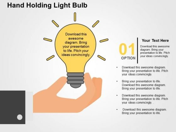 Hand Holding Light Bulb PowerPoint Templates