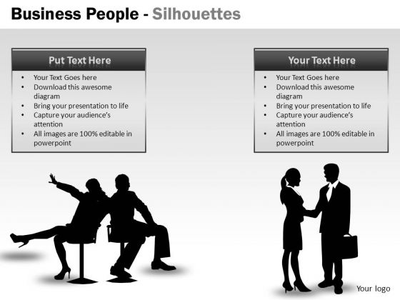 Handshake Business People Silhouettes PowerPoint Slides And Graphics