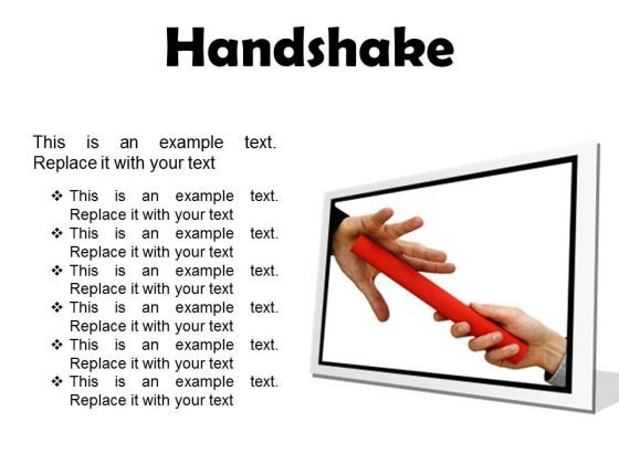 Handshake Business PowerPoint Presentation Slides F