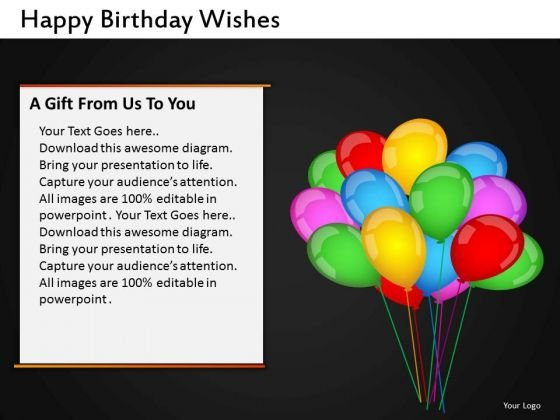 Happy Birthday Balloons PowerPoint Slides Editable Ppt Templates