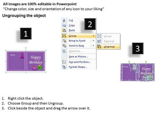 Happy Birthday Invitation PowerPoint Slides And Editable Ppt – Powerpoint Birthday Invitation Template