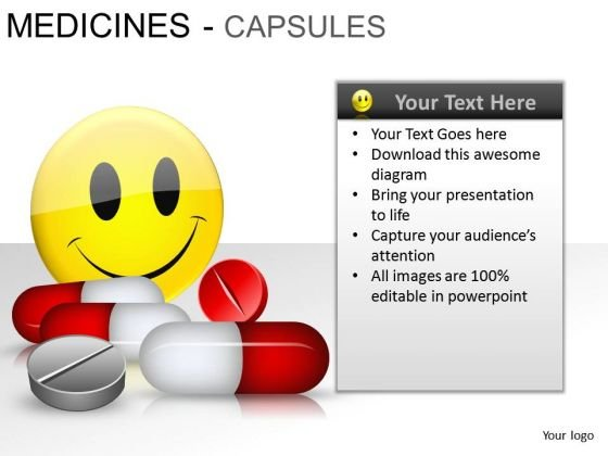Happy Patient Medical Capsules PowerPoint Slides And Ppt Diagram Templates