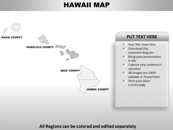 Hawaii PowerPoint Maps