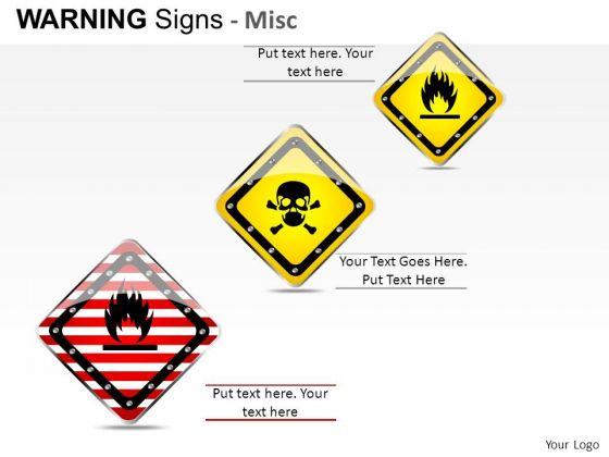 Hazard Illustration Warning Signs PowerPoint Slides And Ppt Diagram Templates