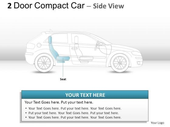 Headlamp 2 Door Gray Car Side PowerPoint Slides And Ppt Diagram Templates