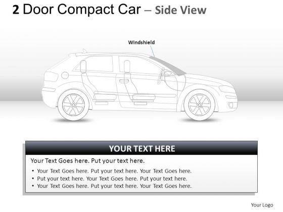 Headlight 2 Door Gray Car Side PowerPoint Slides And Ppt Diagram Templates
