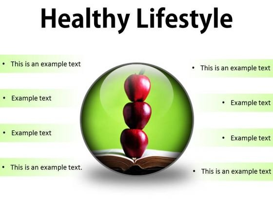 Healthy Lifestyle Food PowerPoint Presentation Slides C