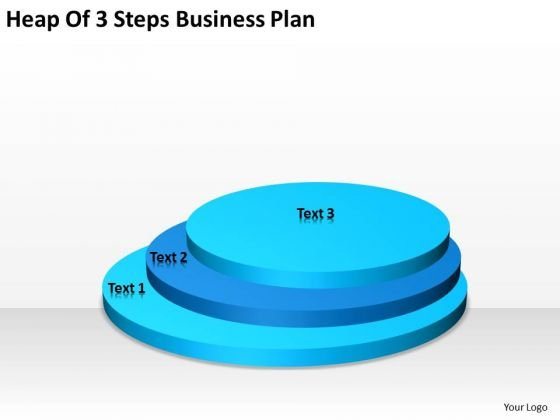 Heap Of 3 Steps Business Plan Financials PowerPoint Slides