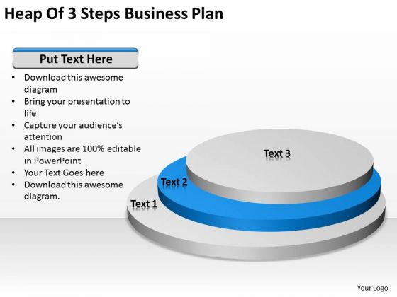 Heap Of 3 Steps Business Plan Ppt Samples PowerPoint Slides