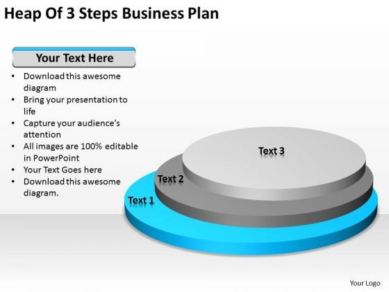 Heap Of 3 Steps Business Plan Ppt Small PowerPoint Slides
