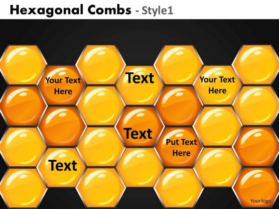 Hexagon Combs Network PowerPoint Templates Editable Ppt Slides