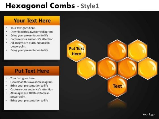 Hexagon Network Honey Combs PowerPoint Slides And Ppt Templates
