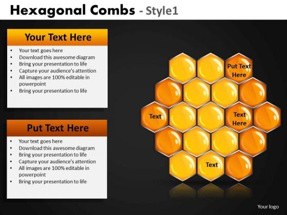 Macro powerpoint templates slides and graphics hexagonal comb powerpoint templates and honey comb ppt slides toneelgroepblik Gallery