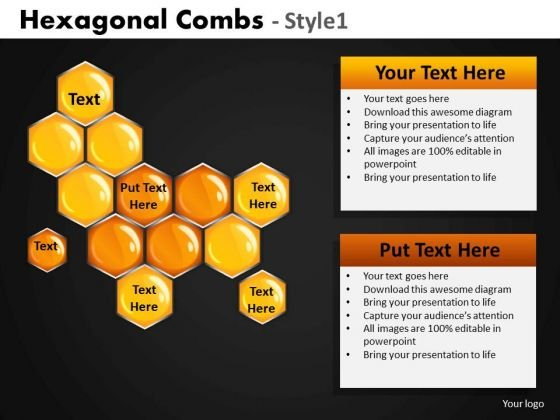 Hexagonal Combs PowerPoint Template