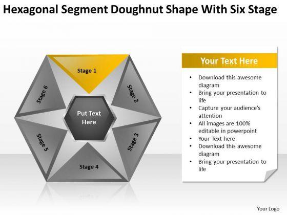 Hexagonal Sagment Doughnut Shape With Six Stage Ppt Business Plan Sample PowerPoint Templates