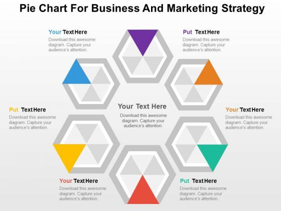 Hexagons For Business And Marketing Strategy PowerPoint Template