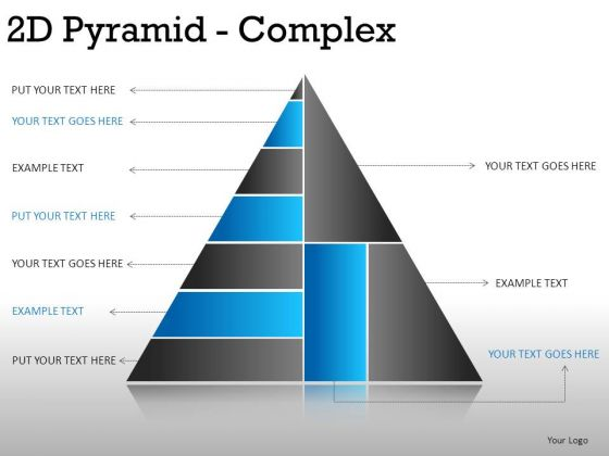 Hierarchy 2d Pyramid Complex PowerPoint Slides And Ppt Diagram Templates