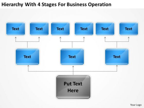 Hierarchy With 4 Stages For Business Operation Ppt Sample Small Plan PowerPoint Slides