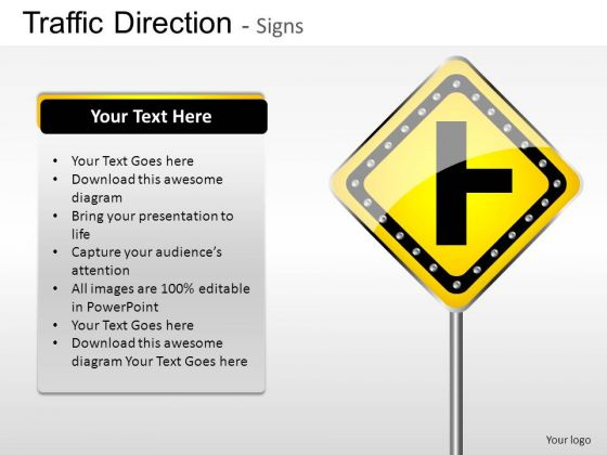Highway Idea Traffic Direction PowerPoint Slides And Ppt Diagram Templates