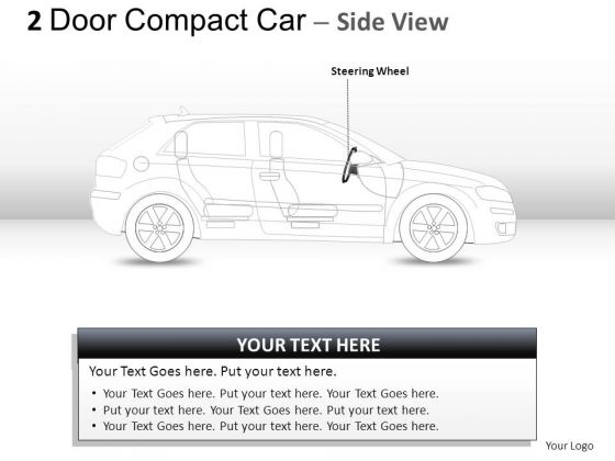 Historical 2 Door Blue Car Side PowerPoint Slides And Ppt Diagram Templates