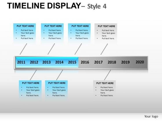 History Timeline Display Powerpoint Slides And Ppt Diagram