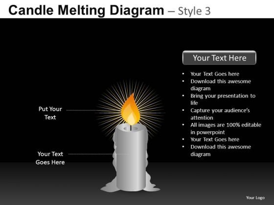 Holy Candle PowerPoint Slides