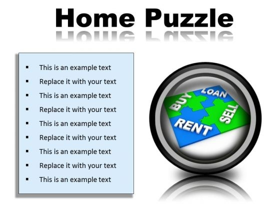 Home Puzzle Real Estate PowerPoint Presentation Slides Cc