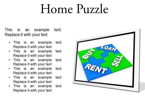 Home Puzzle Real Estate PowerPoint Presentation Slides F