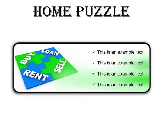 Home Puzzle Real Estate PowerPoint Presentation Slides R