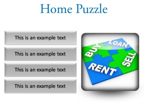 Home Puzzle Real Estate PowerPoint Presentation Slides S