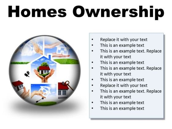 Homes Ownership Real Estate PowerPoint Presentation Slides C