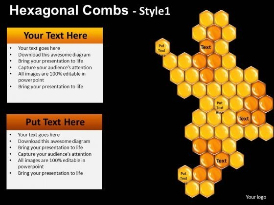 Honey Comb PowerPoint Templates Honey Ppt Slides