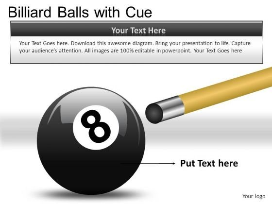 Horizontal Billiard Balls With Cue PowerPoint Slides And Ppt Diagram Templates