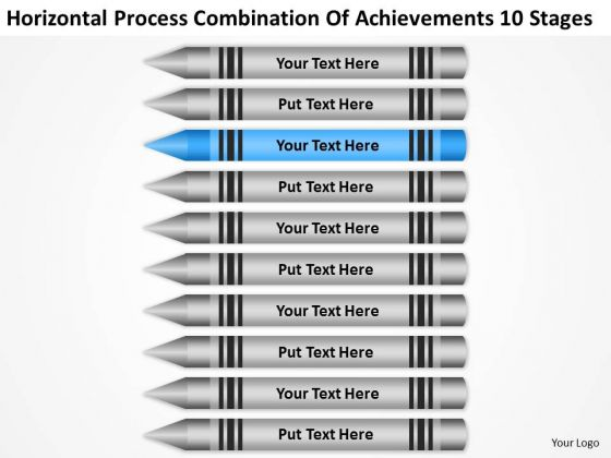 Horizontal Process Combination Of Acheivements 10 Stages Ppt Business Ideas PowerPoint Slides