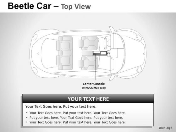 Horizontal Red Beetle Car PowerPoint Slides And Ppt Diagram Templates