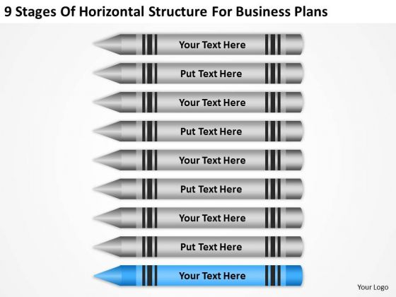 Horizontal Structure For Business Plans Ppt Examples PowerPoint Slides