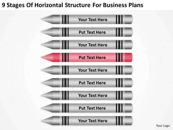 Horizontal Structure For Business Plans Ppt How To Draft PowerPoint Slides