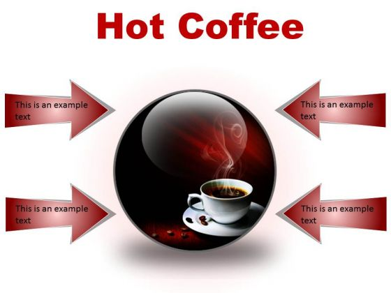 Hot Coffee Food PowerPoint Presentation Slides C