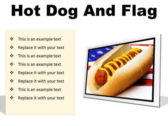 Hot Dog And Flag Food PowerPoint Presentation Slides F